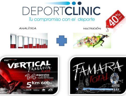 DEPORTCLINIC , ofrece un 40% de descuento a los Inscritos a Famara Total