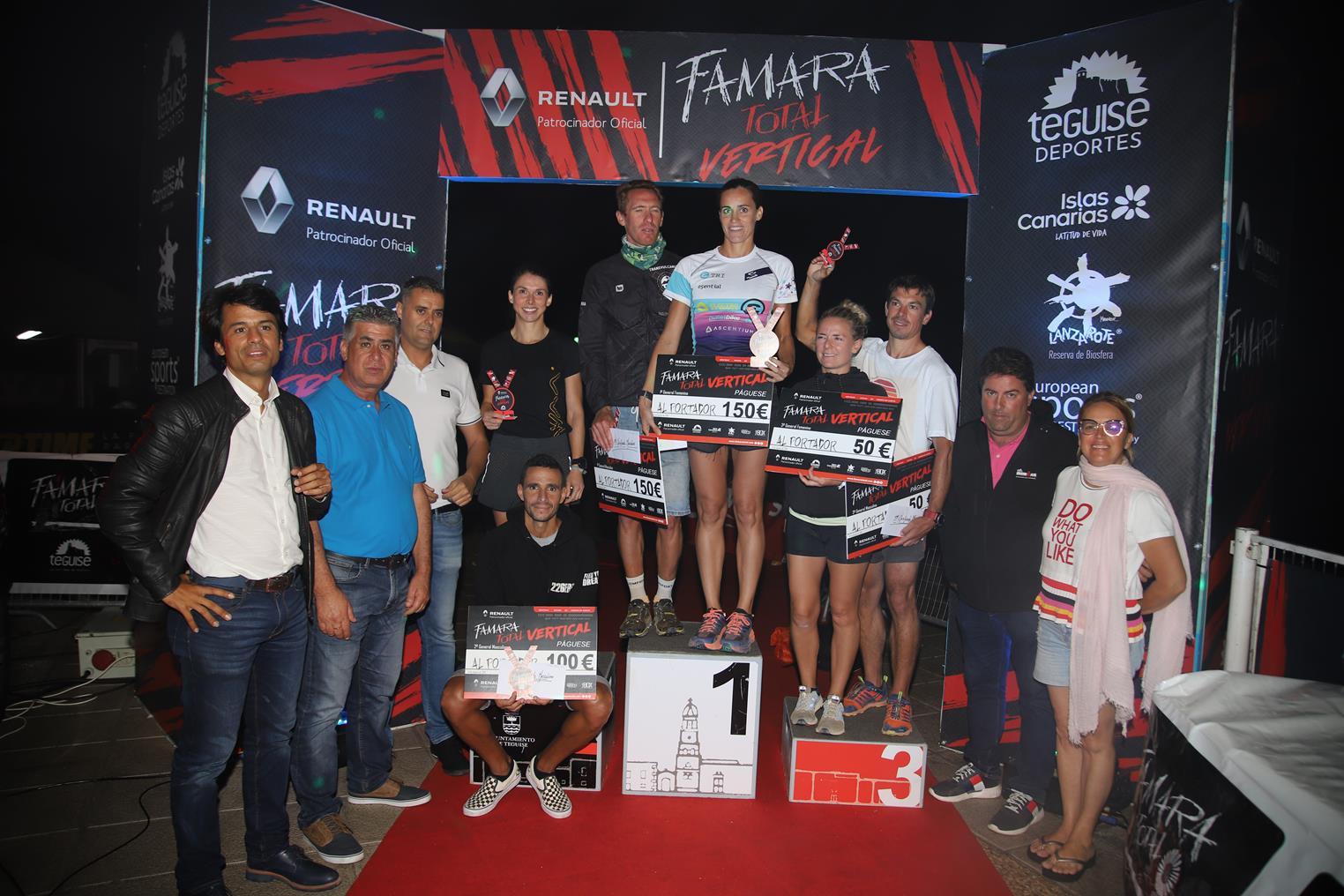 Leon Drajer y Rut Brito, ganadores de la III Renault Vertical Famara Total